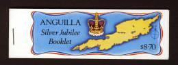ANGUILLA - 1977 ROYAL SILVER JUBILEE BOOKLET SG SB1 FINE MNH ** - Anguilla (1968-...)