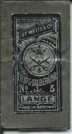 Ancienne Pochette Aiguilles LANGE N°5, St WITTE & Co, ELLIPS-SILBEROHR, Made In Germany - Habits & Linge D'époque