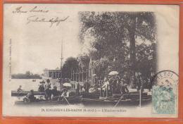 Carte Postale 95. Enghien-les-bains  L´embarcadère    Trés Beau Plan - Enghien Les Bains
