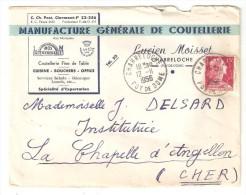 CHABRELOCHE 63 Puy De Dôme Manufacture Générale De Coutellerie Lucien MOISSET - Timbres