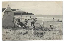 CPA - TRESTRAOU, SCENES SUR LA PLAGE - Perros Guirec, Côtes D' Armor 22 - Circulé 1914 - Animée - Perros-Guirec