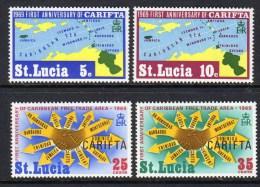 ST LUCIA - 1969 CARIFTA SET (4V) FINE MNH ** SG 264-267 - St.Lucia (...-1978)