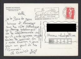 DF / FRANCE / TP 2720 TYPE MARIANNE DE BRIAT / OBL. ET FLAMME D'ARGELES-GAZOTS 24 -8 1992 Htes-PYRÉNÉES / CHAMOIS - Lettres & Documents