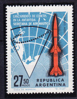 Argentina 1966 Space Rocket / Antarctica 1v ** Mnh (27333) - Argentinië