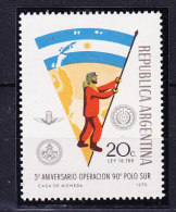 Argentina 1970 Operation Polo Sur / Antarctica / Flag 1v ** Mnh (27333B) - Argentinië