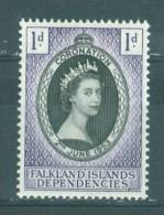 Falkland Islands Dep: 1953   Coronation          MH - Falklandeilanden