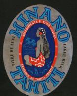 Biere Hinano (Tahiti). Beer Label From 60`s. - Birra