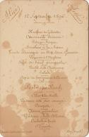 Menu Sur Carton 1896 Hôtel Mengelle Bruxelles - Menus
