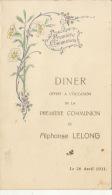 Menu Gaufré Alphonse Lelong 1931 - Menus
