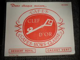 ANCIEN BUVARD / PUB  CAFES CLEF D'OR - Papeterie