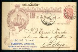 "Portugal 1916 Gut Erhaltene Bildganzsache Mi.Nr.???""400 Jahre...""bef. ""Funchal-Madeira-Malaga"" 1 GS Used - Cartas"