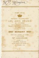 Menu Société Royale Mutualiste Philanthropique De Schaebeek Van Beneden Décor  Brasserie Flamande 1937 - Menus