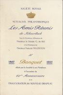 Menu Société Royale Mutualiste Philanthropique De Schaebeek De Ro Milonton Salon Van Bree 1927 - Menus