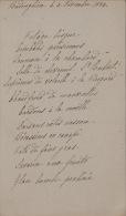 Menu Pour Senateur Hubert Van Willigen Budenghien 1884 - Menus