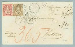 Heimat ZH Trüllikon 1871-10-13 Zwergstempel Auf NN-Brief Nach Truttikon Zu#30+38 Sitz. - Lettres & Documents