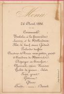 Menu Schelen Pour Baron De Potesta De Waleffe - Menus
