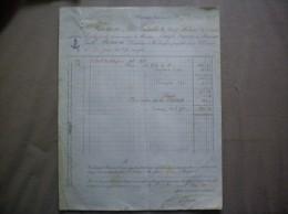 WARDRECQUES PAS DE CALAIS E. PORION DISTILLATEUR FACTURE DU 10 7bre 1878 - 1800 – 1899