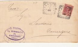 1908 / CANNERO Novara - ANNULLO TONDO RIQUADRATO   - SX226 - 1900-44 Victor Emmanuel III