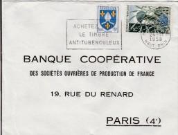 Sur Lettre- N° Yvert  1005 Saintonge Et 1179 40ème Anniversaire De L'armistice - Marcofilia (sobres)