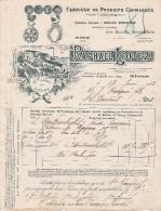 Facture 1913 RAPHAËL LOPEZ Produits Chimiques Pour Agriculture NIMES Gard - Déchirure - 1900 – 1949