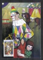Slovakia Maxicard Europa CEPT Circus , Clown 2002 - Circus