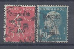 FR - 1930 - CONGRES DU B.I.T.  N° 264 Et 265 - OBLITERES B/TB - - Used Stamps