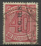 Upper Silesia - 1920 Official Overprint 40pf Used  Sc O44 - Allemagne
