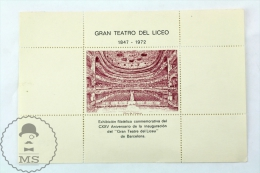 Gran Teatre Del Liceu 1847 - 1972 Philatelic Exhibition Cinderela Celebrating The 125th Anniversary Of Teatre Opening - Erinofilia