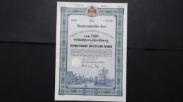 Germany-Freie Und Hansestadt Hamburg-Nr:042485/ 1989-100 DM Bond+kompl.Coupons-nicht Entwertet+hoch Dekorativ-look Scans - Hist. Wertpapiere - Nonvaleurs