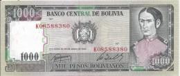 1000 Pesos 1982 - Bolivia