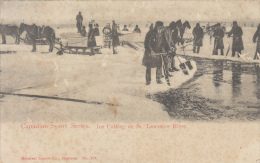 Canadian Sport Series - Ice Cutting On St Lawrence River (animation, 1905) - Non Classés