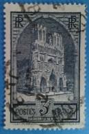 France 1929 : Cathédrale De Reims Type II N° 259a Oblitéré - Oblitérés