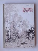 LECTURES ACTIVES: Livre Scolaire 1965 Cours Moyen 1ére Année Initiation Résumé Lecture - HACHETTE - DURU - Libri, Riviste, Fumetti