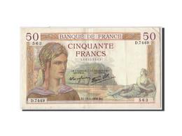 France, 50 Francs 1934-1940 ''Cérès'',1938, 1938-01-13 KM:85b, TB+ - 1871-1952 Antichi Franchi Circolanti Nel XX Secolo