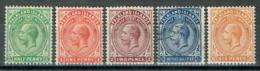 Falkland-Inseln 1912 George V. SG 60-64 Ungebraucht/gestempelt - Falklandeilanden