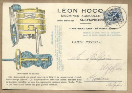 "-*Machines Agricoles - """" LEON  HOCQ-MONS """" - Advertising"