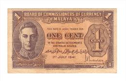 Malaya, 1 Cent 1941. - Malaysie