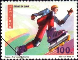 SPORTS-SKATES ONLINE-SPECIMEN-PORTUGAL-1997-MNH-B9-14 - Skateboard