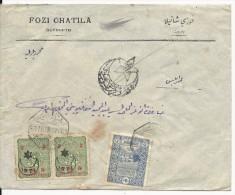 LIBAN - 1918 - PERIODE TURQUE - ENVELOPPE Avec CENSURE De BEYROUTH - Liban