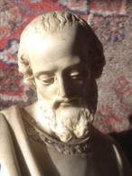SAINT JOSEPH, ET L´ENFANT, FIN XIX, SIGNE  R CASCIANI. Sculpture En ETAT PARFAIT - Sculptures