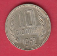 F5991 / - 10  Stotinki -  1962 -  Bulgaria Bulgarie Bulgarien Bulgarije - Coins Monnaies Munzen - Bulgarie