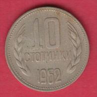 F5992 / - 10  Stotinki -  1962 -  Bulgaria Bulgarie Bulgarien Bulgarije - Coins Monnaies Munzen - Bulgaria