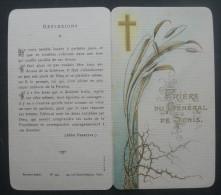 IMAGE PIEUSE BOUASSE Pl 334 (chromo Vers 1910) PRIERE DU GENERAL DE SONIS SANTINO - Images Religieuses