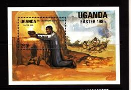 1985 Uganda - Easter  Complete Set Of 4 MNH & Souvenir Sheet - Uganda (1962-...)
