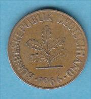 ALLEMAGNE  10 PFENNIG   ANNEE 1966 (LETTRE J  HAMBOURG)   LOT ALL2018 - 10 Pfennig