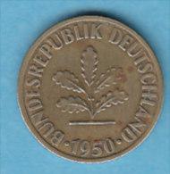 ALLEMAGNE  10 PFENNIG   ANNEE 1950 (LETTRE F  STUTTGARD)   LOT ALL2019 - 10 Pfennig