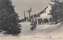 CPA - Chasseurs Alpins En Marche D'Hiver - Montée Du Col Des Ayres  Massif De La Chartreuse - Régiments