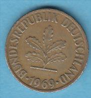 ALLEMAGNE  10 PFENNIG   ANNEE 1969 (LETTRE J  HAMBOURG)   LOT ALL2021 - 10 Pfennig