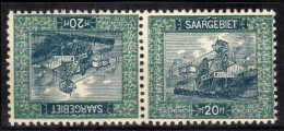 Sarre 55 B  ** Paire Tete Beche Rare - 1920-35 League Of Nations