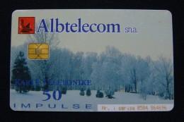 ALBANIA CHIP CARD 50 UNITS 2001, GOOD QUALITY, USED. - Albania